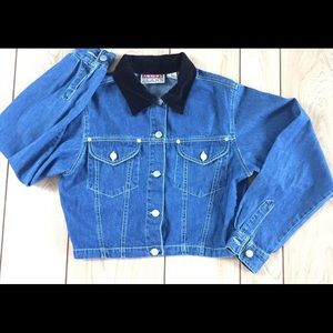 Vintage 80's Crop denim jacket Sz M by Andrews